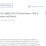 Homocysteine and the SARS-CoV-2 Coronavirus – The X Factor of Severe Disease and Death